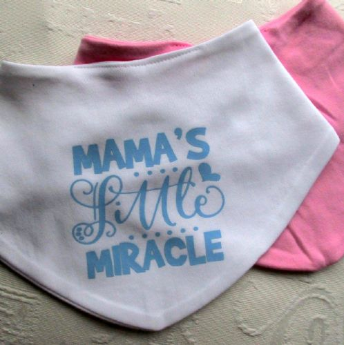 Baby Bandana Bibs 'Mama's Miracle' Two Pack